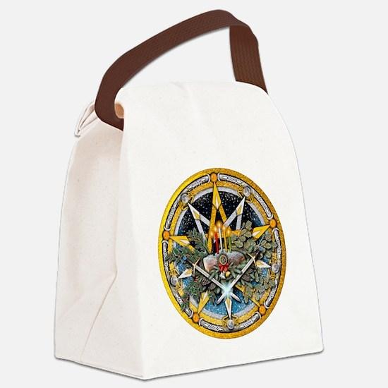 Yule Pentacle Canvas Lunch Bag