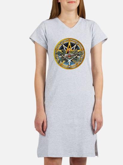 Yule Pentacle Women's Nightshirt