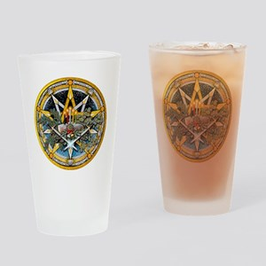 Yule Pentacle Drinking Glass