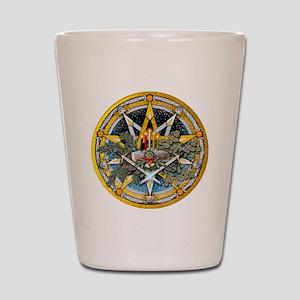 Yule Pentacle Shot Glass