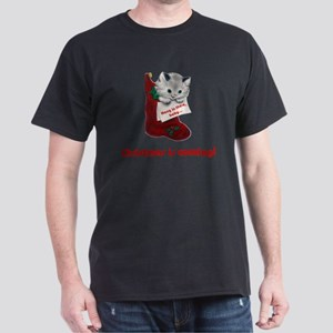 FIN-hang-in-there-xmax-10x10 Dark T-Shirt