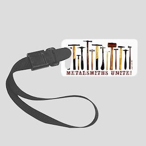 Hammers- Metalsmiths Unite! Small Luggage Tag
