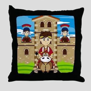 Roman Pad21 Throw Pillow