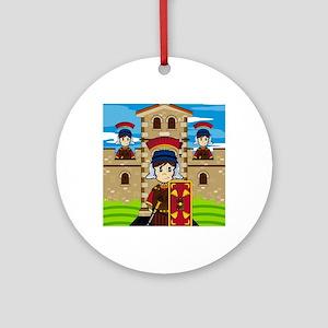 Roman Pad23 Round Ornament