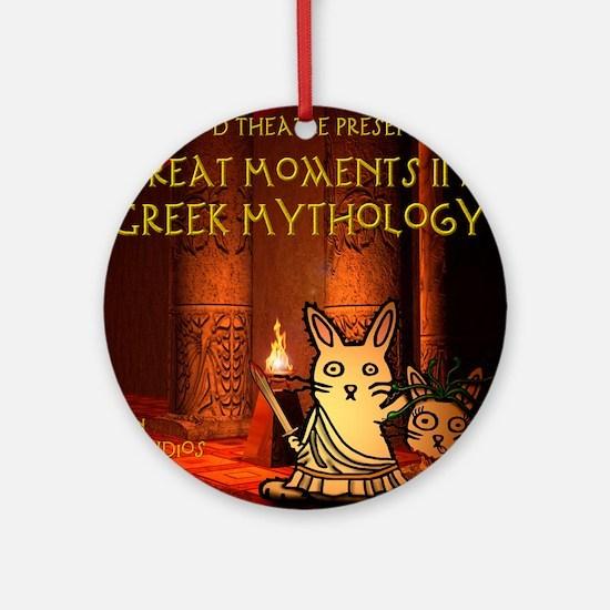 nodatecovermythology Round Ornament