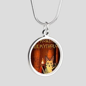 nodatecovermythology Silver Round Necklace
