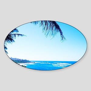 Beautiful beaches at Puerto De Tier Sticker (Oval)
