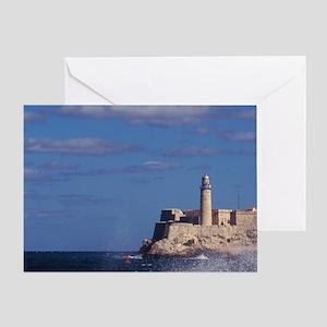Cuba, La Habana, El Morro. Greeting Card