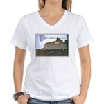 Dog tired Women's V-Neck T-Shirt