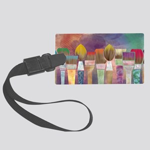 Paintbrushes_laptopskin Large Luggage Tag