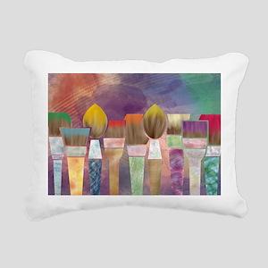 Paintbrushes_laptopskin Rectangular Canvas Pillow
