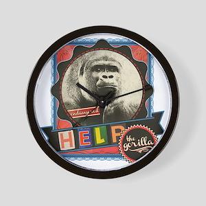 Endangered-Gorilla-2 Wall Clock