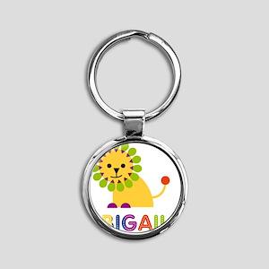 Abigail-the-lion Round Keychain