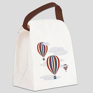 Hot Air Balloon Sq Lt Canvas Lunch Bag