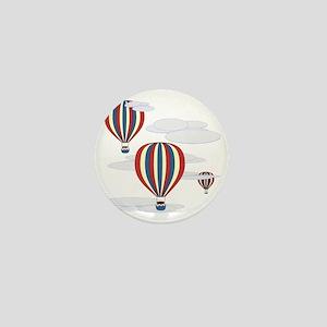 Hot Air Balloon Sq Lt Mini Button