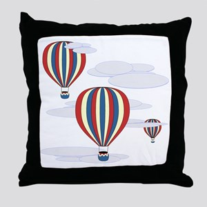 Hot Air Balloon Sq Lt Throw Pillow