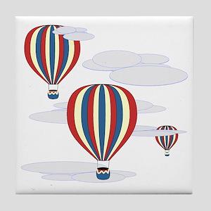 Hot Air Balloon Sq Lt Tile Coaster