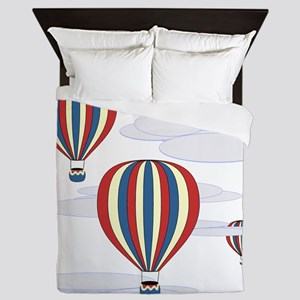 Hot Air Balloon Sq Lt Queen Duvet