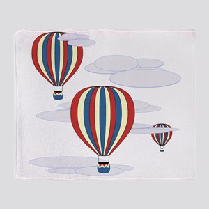 Hot Air Balloon Sq Lt Throw Blanket
