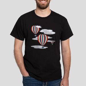 Hot Air Balloon Sq Lt Dark T-Shirt