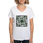Celtic Stepping Stone Women's V-Neck T-Shirt