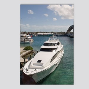 Yacht moored under Paradi Postcards (Package of 8)