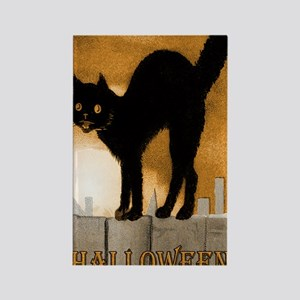 CatOnFence_5x8 Rectangle Magnet
