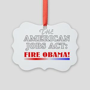 Anti-obama gift Picture Ornament