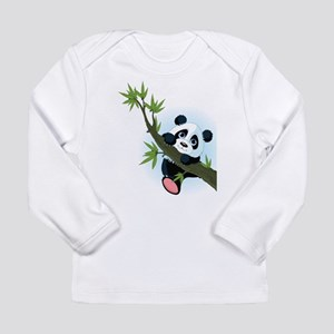 Panda on Tree Long Sleeve T-Shirt