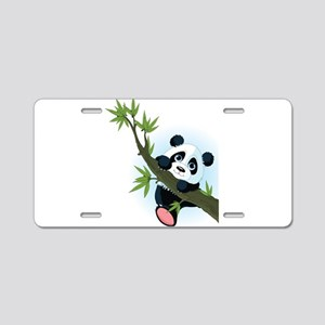 Panda on Tree Aluminum License Plate
