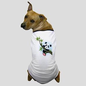 Panda on Tree Dog T-Shirt