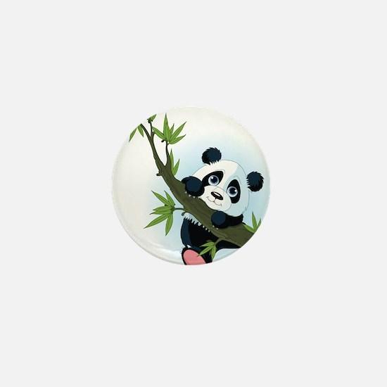 Panda on Tree Mini Button
