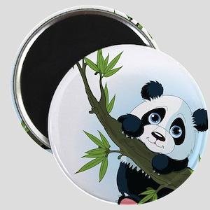 Panda on Tree Magnets