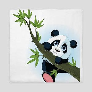 Panda on Tree Queen Duvet