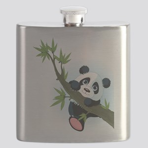 Panda on Tree Flask