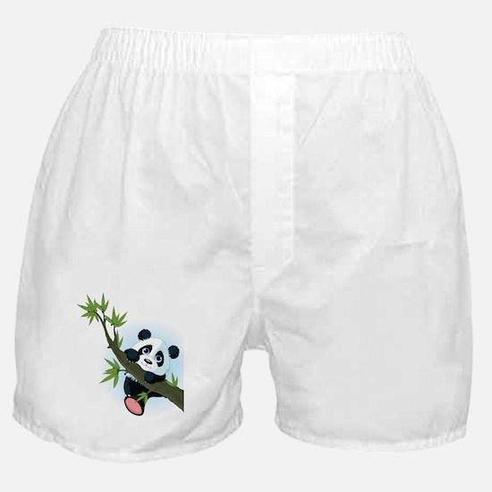Panda on Tree Boxer Shorts