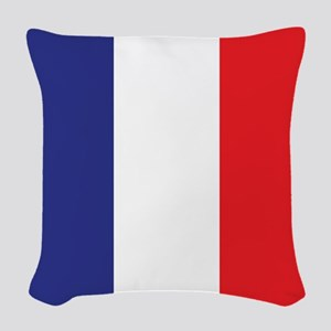 Flag of France Woven Throw Pillow