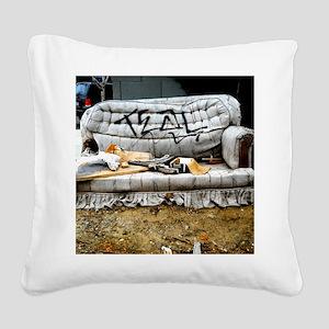 Graffiti Couch Square Canvas Pillow