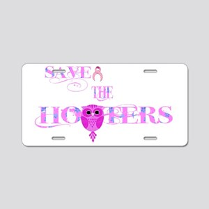 Save the Hooters Owl Aluminum License Plate