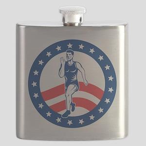 American Marathon runner Flask