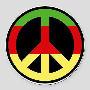 peace01 Round Car Magnet