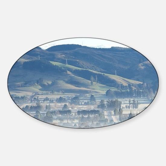Winter Air Pollution over Mosgieler Sticker (Oval)