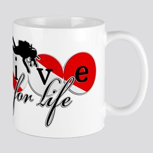 Dive Flage Dive for Life Mugs