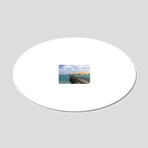 Jetty at Omapere and Sand Du 20x12 Oval Wall Decal
