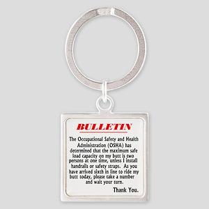 bullentin Square Keychain
