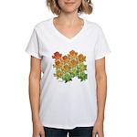 Celtic Leaf Tesselation Women's V-Neck T-Shirt