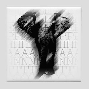 asphaelephant-face Tile Coaster