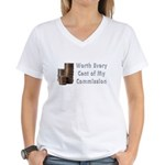 Worth Every Cent Women's V-Neck T-Shirt