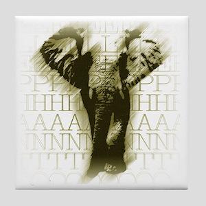 yllwelephant-face Tile Coaster