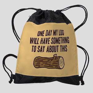 Twin Peaks Log Will Say Drawstring Bag